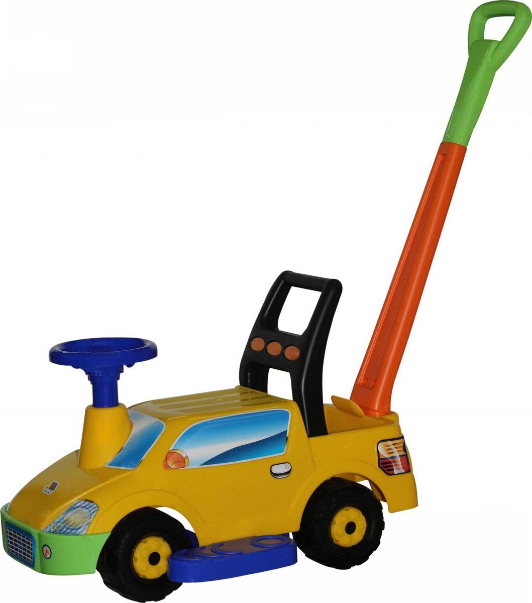 Полесье Каталка Пикап с ручкой №2, цвет в ассортименте автомобиль пластмастер малютка зефирки цвет в ассортименте 31172