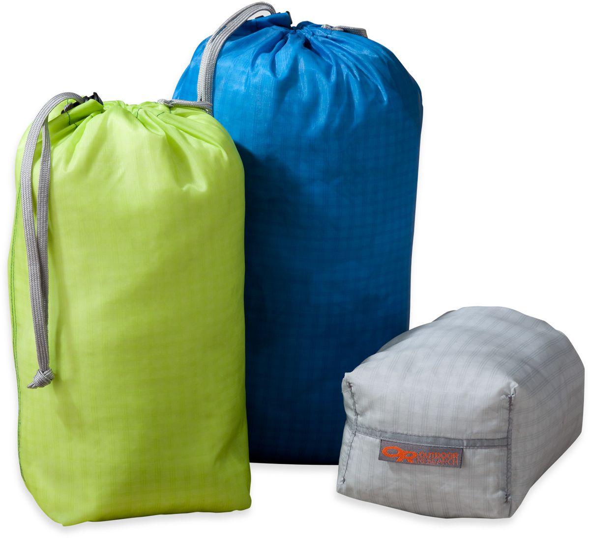 Мешок влагозащитный Outdoor Research Ultralight Ditty Sacks PAK-3, цвет: желтый, синий, серый, 3 шт