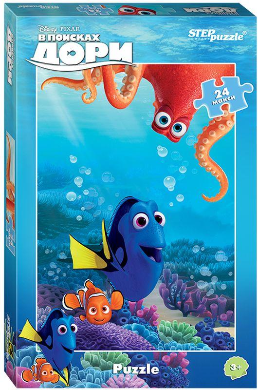 Step Puzzle Пазл для малышей В поисках Дори 9002890018Пазл В поисках Дори создан по мотивам мультфильма В поисках Дори (Disney). История рассказывает о синей рыбке Дори, которая отправляется на поиски своей семьи вместе с друзьями Марлином и Немо. Характеристика: - размер собранной картинки: 50 см х 34,5 см; - размер одной детали: 8,5 см х 8 см (в планшете 20 пазлов-вкладышей). Пазл подойдет для малышей от 3-х лет. Материал: дерево. Подарите своему ребенку яркий пазл с любимыми героями мультфильма В поисках Дори. Ему обязательно понравится такой подарок!