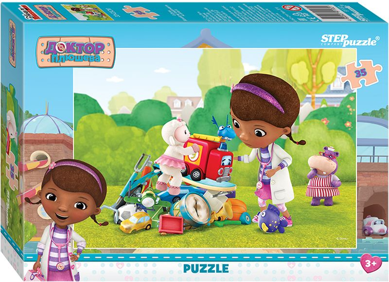 Step Puzzle Пазл для малышей Доктор Плюшева 91132 step puzzle пазл для малышей тачки 89122