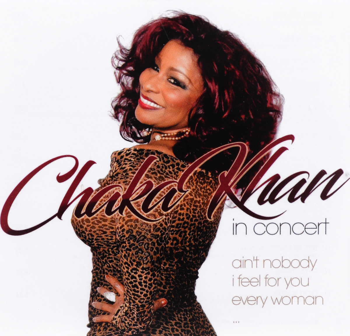 Чака Хан Chaka Khan. Chaka Khan In Concert чака хан chaka khan original album series 5 cd