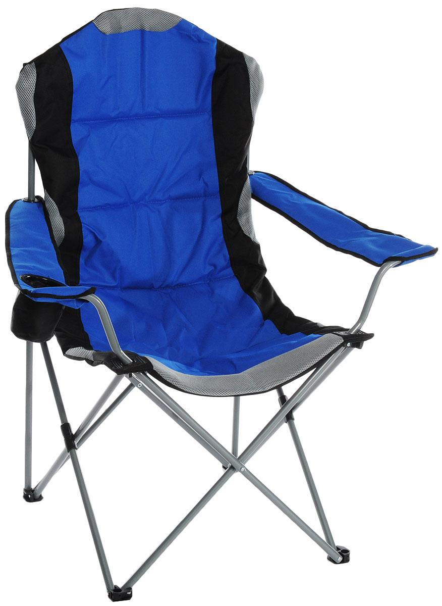 Кресло складное Green Glade, цвет: синий, 60 см х 66 см х 50/95 см кресло складное green glade m2306 65 см х 66 см х 95 см