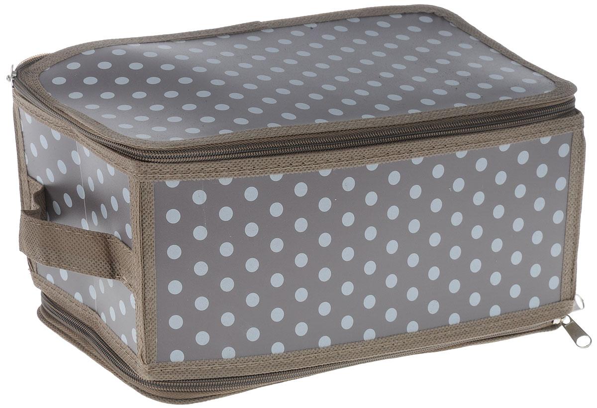 Коробка для хранения Handy Home Полька, складная, 30 х 15 см
