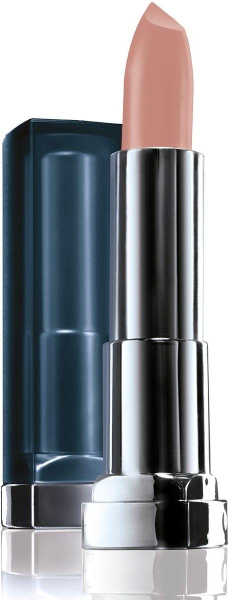 цена на Maybelline New York Увлажняющая помада для губ Color Sensational Матовое Обнажение, Оттенок 983, Теплый Бежевый, 4,4 г