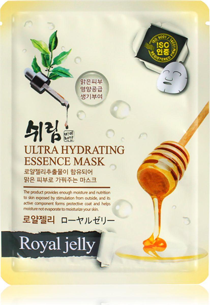 Shelim, Увлажняющая тканевая маска с натуральным экстрактом пчелиного маточного молочка, 25 мл тканевая маска для лица с натуральным экстрактом пчелиного маточного молочка ultra hydrating essence mask royal jelly 25 мл