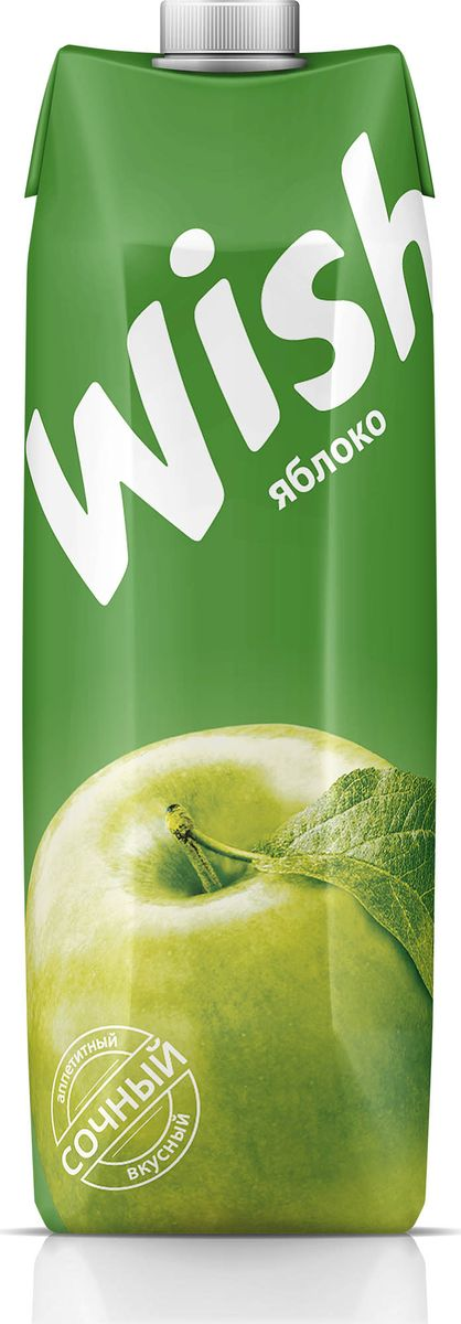 Фото - Wish нектар яблочный, 1 л нектар benature морковно яблочный 730 мл
