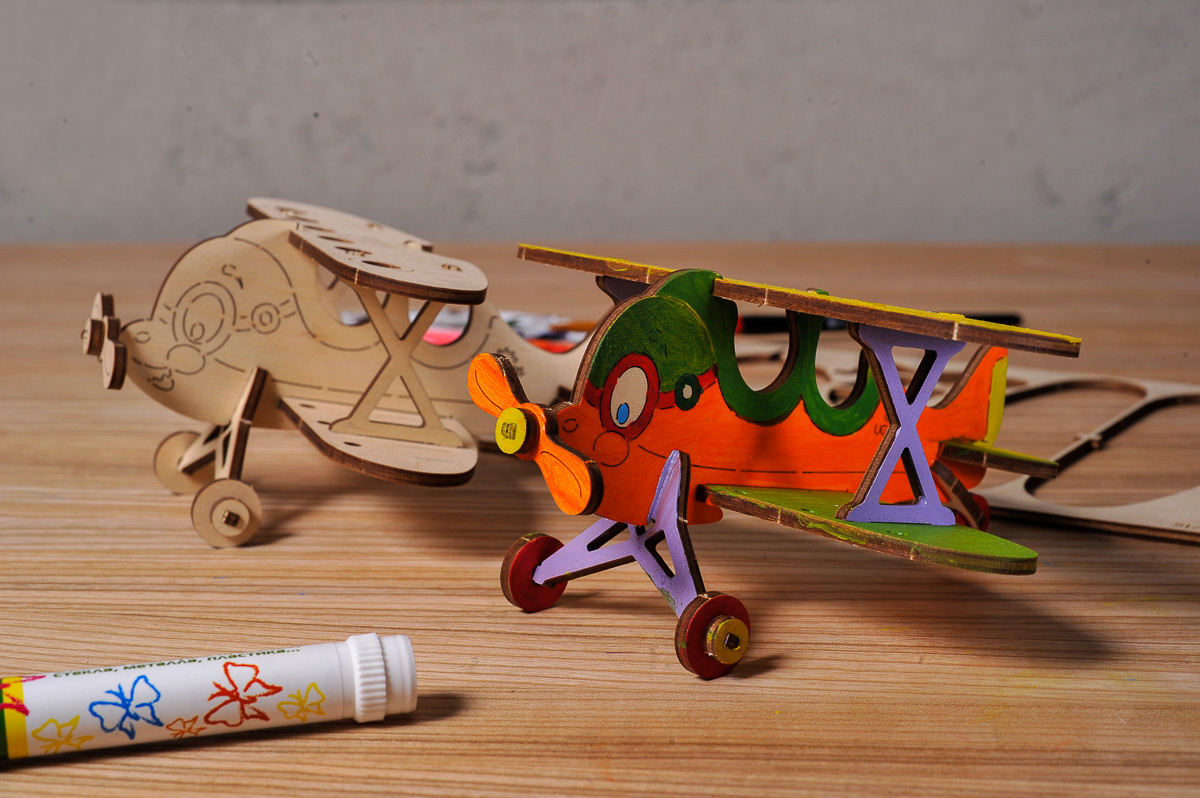 UgearsСборная деревянная модель Биплан Ugears