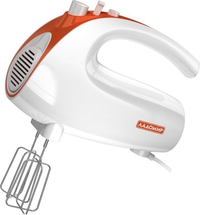 лучшая цена Миксер Ладомир 606, цвет белый оранжевый