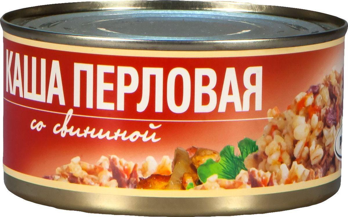 Рузком Каша перловая со свининой, 325 г рузком колбасная закуска домашняя 325 г
