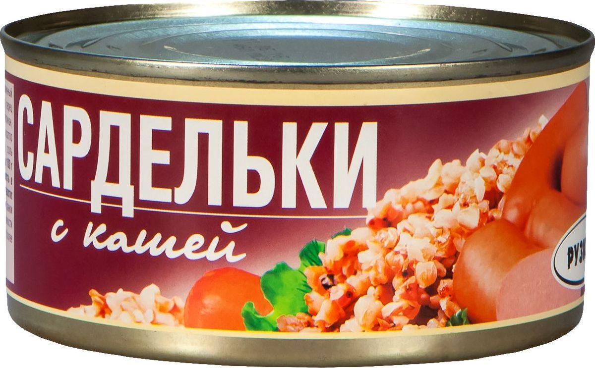 Рузком Сардельки с гречневой кашей, 325 г готовое блюдо совок с1741 жестяная банка 325