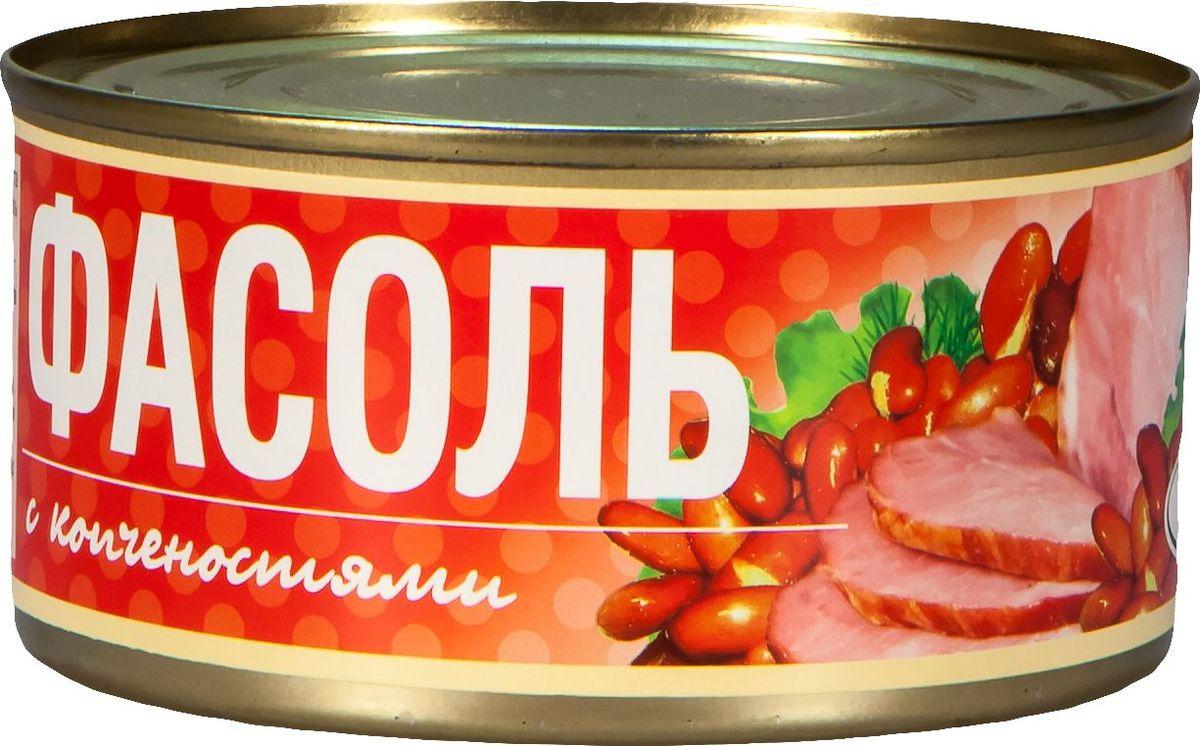 Рузком Фасоль с копченостями, 325 г рузком колбасная закуска домашняя 325 г