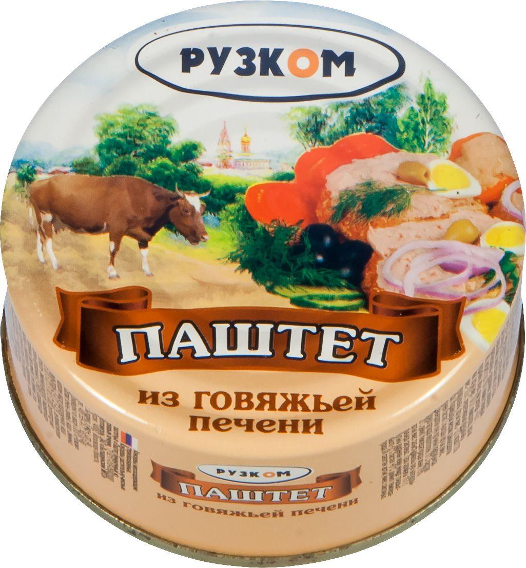 Рузком паштет из говяжьей печени литография, 117 г цены онлайн