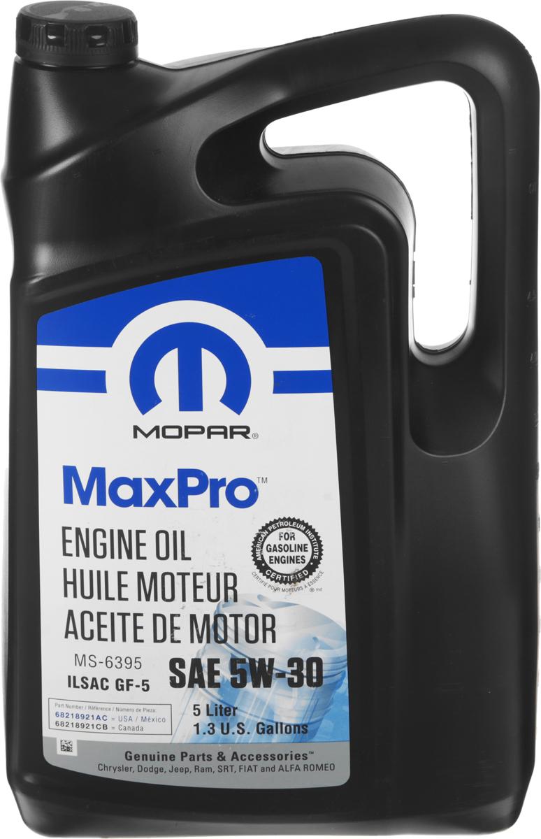 """Масло моторное Mopar """"MaxPro"""", полусинтетическое, класс вязкости 5W-30, 5 л"""