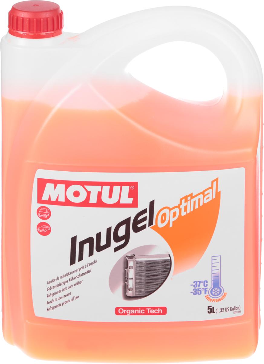 """Антифриз Motul """"Inugel Optimal"""", флуоресцентный, цвет: оранжевый, 5 л"""