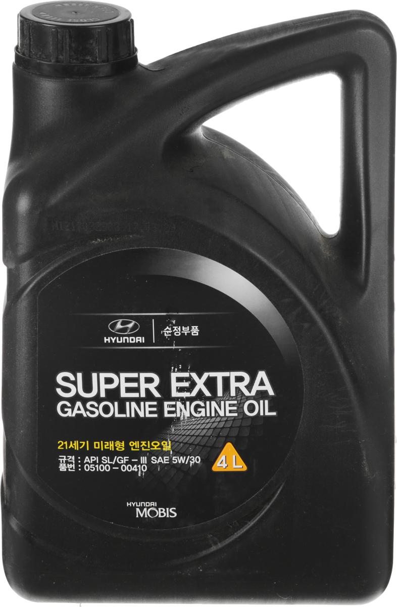 """Масло моторное Hyundai Mobis """"Super Extra Gasoline"""", полусинтетическое, класс вязкости 5W-30, 4 л"""
