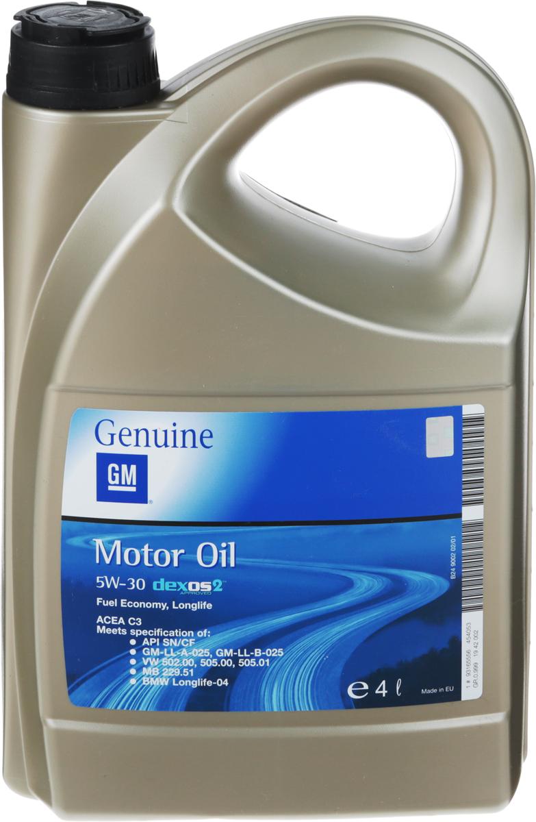 "Масло моторное GM ""Dexos 2"", синтетическое, класс вязкости 5W-30, 4 л"