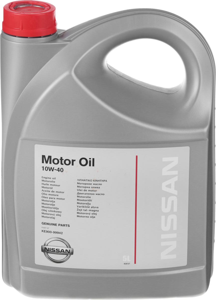"""Масло моторное """"Nissan"""", полусинтетическое, класс вязкости 10W-40, 5 л"""