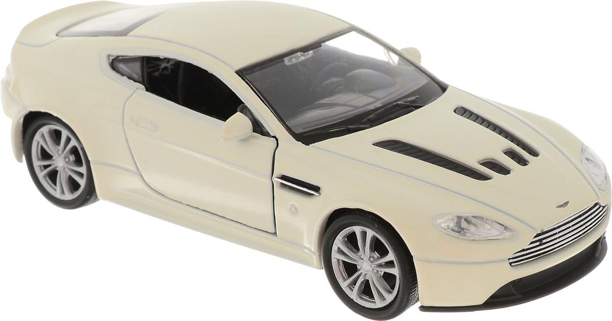 Welly Модель автомобиля Aston Martin V12 Vantage цвет молочный