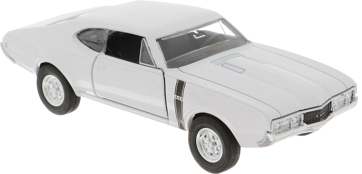 Welly Модель автомобиля Oldsmobile 442 1968 цвет белый