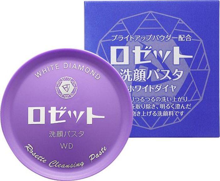 RosetteУвлажняющее средство для умывания, выравнивающее тон кожи, с серой, алмазно-жемчужной пудрой и восемью косметическими компонентами, с ароматом белой розы, 90 г Rosette