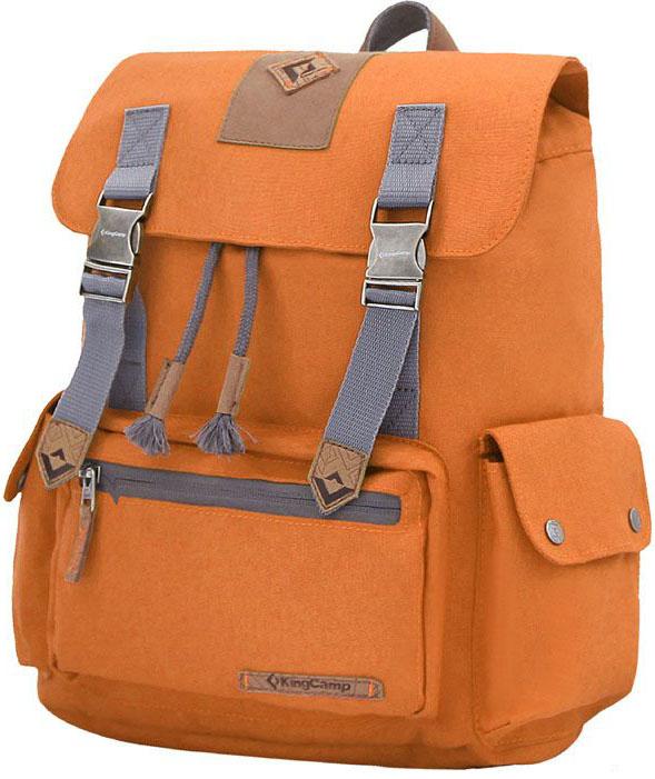 Рюкзак городской King Camp Yellowstone 15, цвет: оранжевый рюкзак городской kingcamp peach 28l цвет красный серый