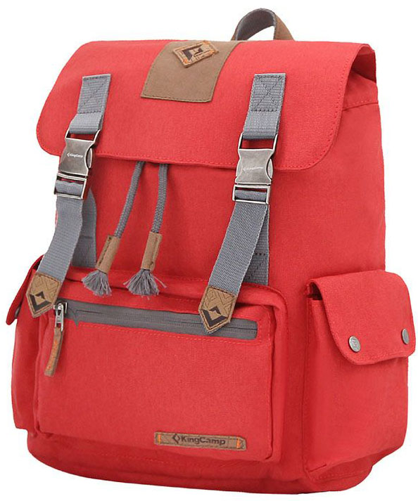 Рюкзак городской King Camp Yellowstone 15, цвет: красный, 15 л рюкзак городской kingcamp peach 28l цвет красный серый