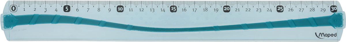 Maped Линейка цвет голубой 30 см линейка maped twist n flex неломающаяся цвет голубой 20 см