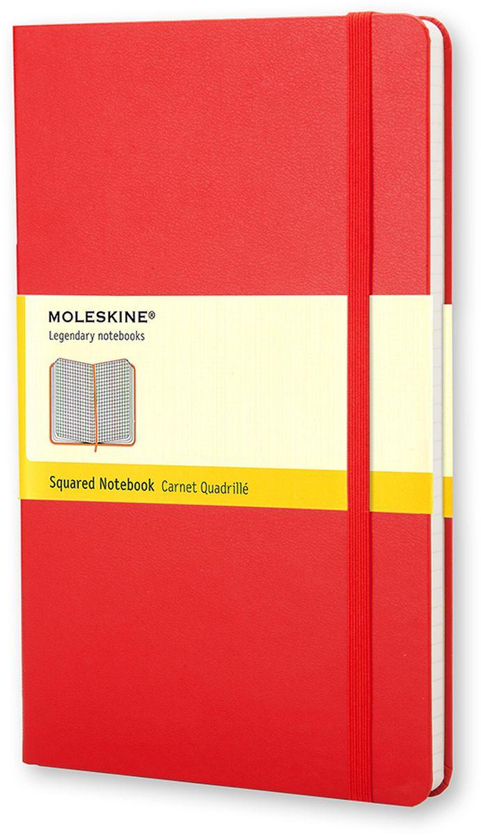 Moleskine Блокнот Classic Large 120 листов в клетку цвет красный