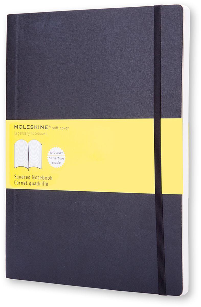 Moleskine Записная книжка Classic Soft Xlarge 96 листов в клетку цвет черный