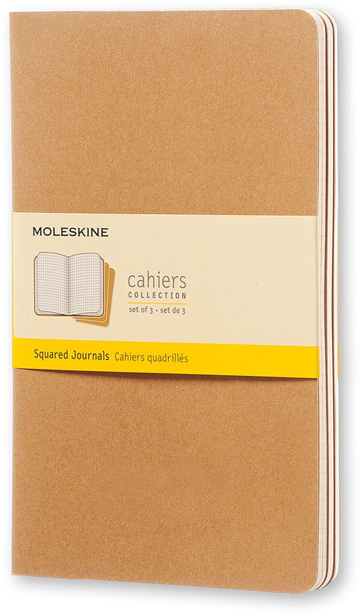 Moleskine Набор записных книжек Cahier Large 40 листов в клетку цвет бежевый 3 шт