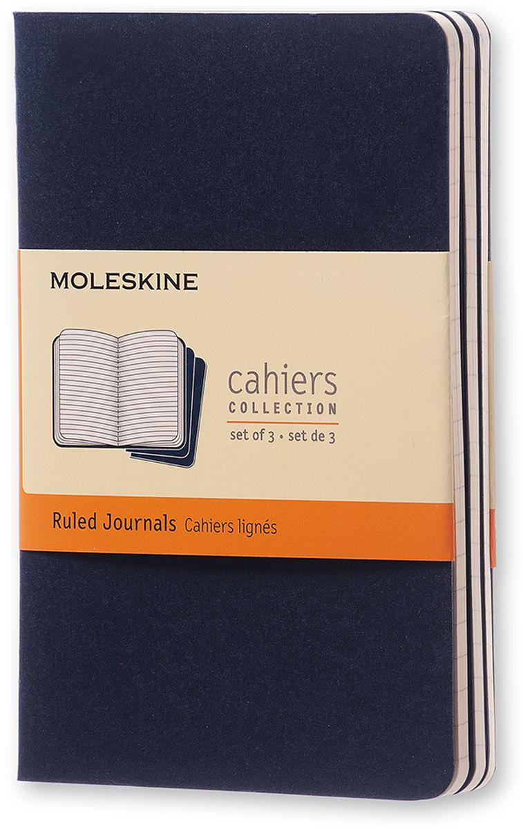 Moleskine Набор записных книжек Cahier Pocket 32 листа в линейку цвет темно-синий 3 шт