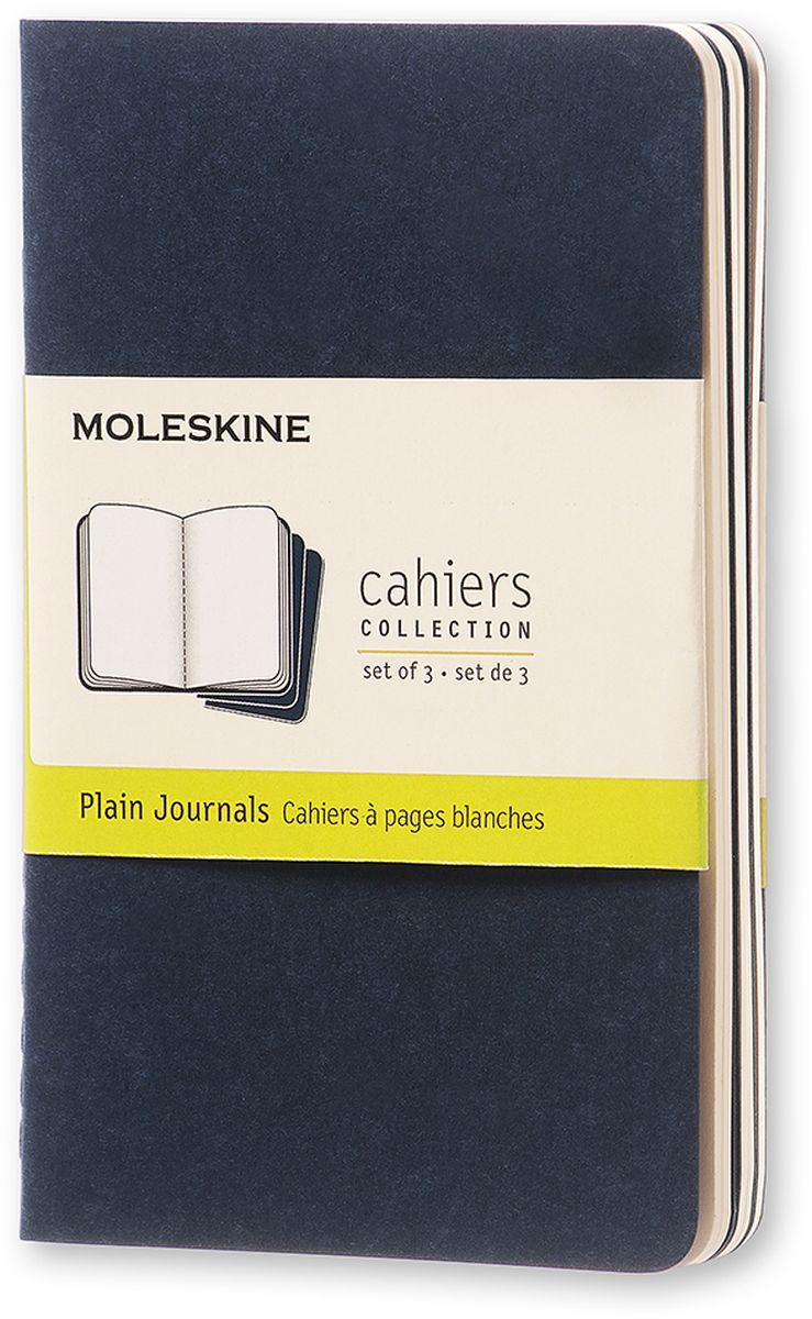 Moleskine Набор записных книжек Cahier Pocket 32 листа без разметки цвет темно-синий 3 шт