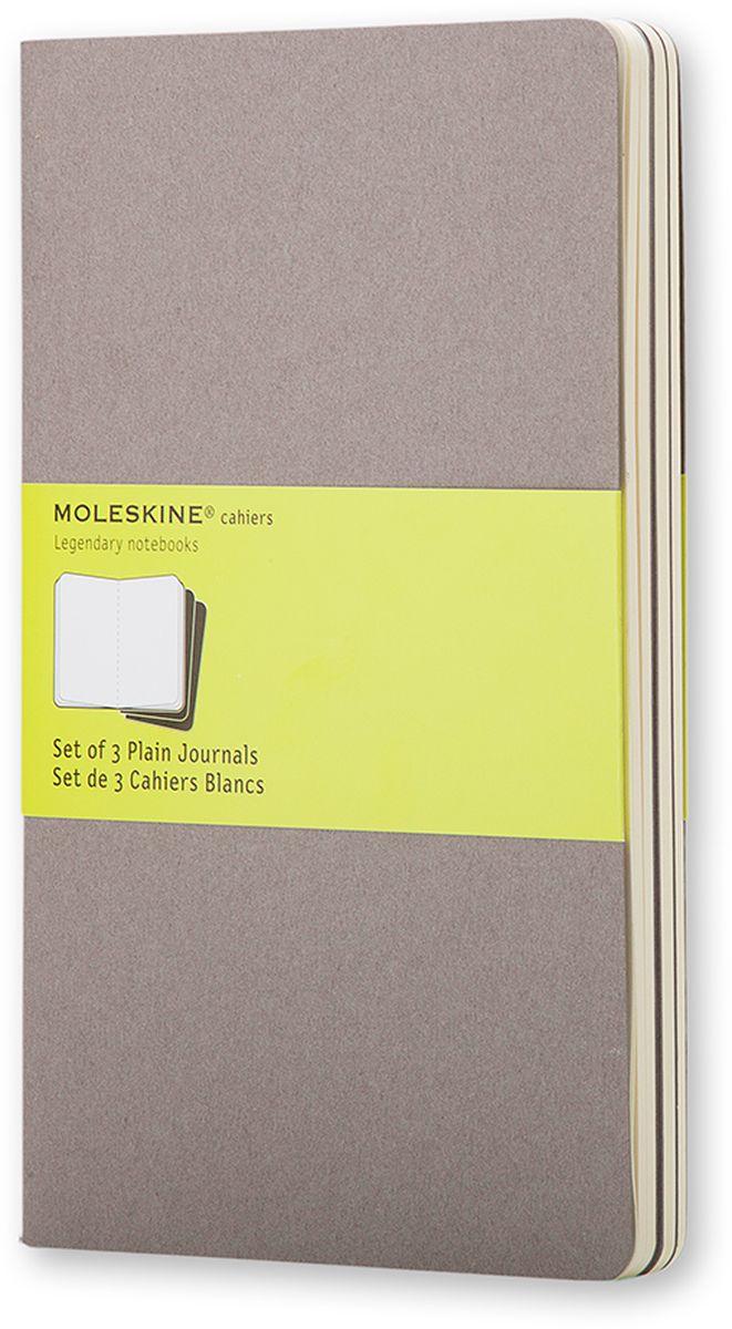 Moleskine Набор записных книжек Cahier Large 40 листов без разметки цвет серый 3 шт