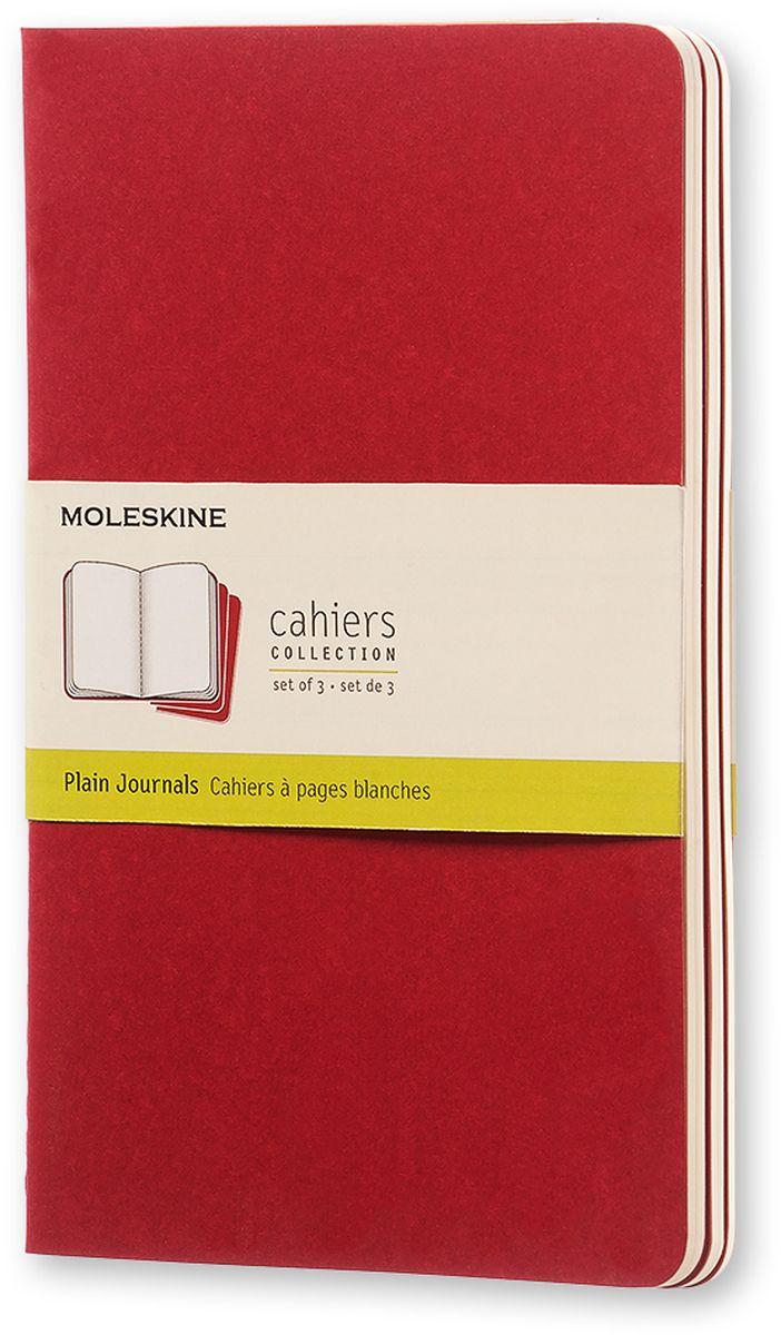 Moleskine Набор записных книжек Cahier Large 40 листов без разметки цвет клюквенный 3 шт