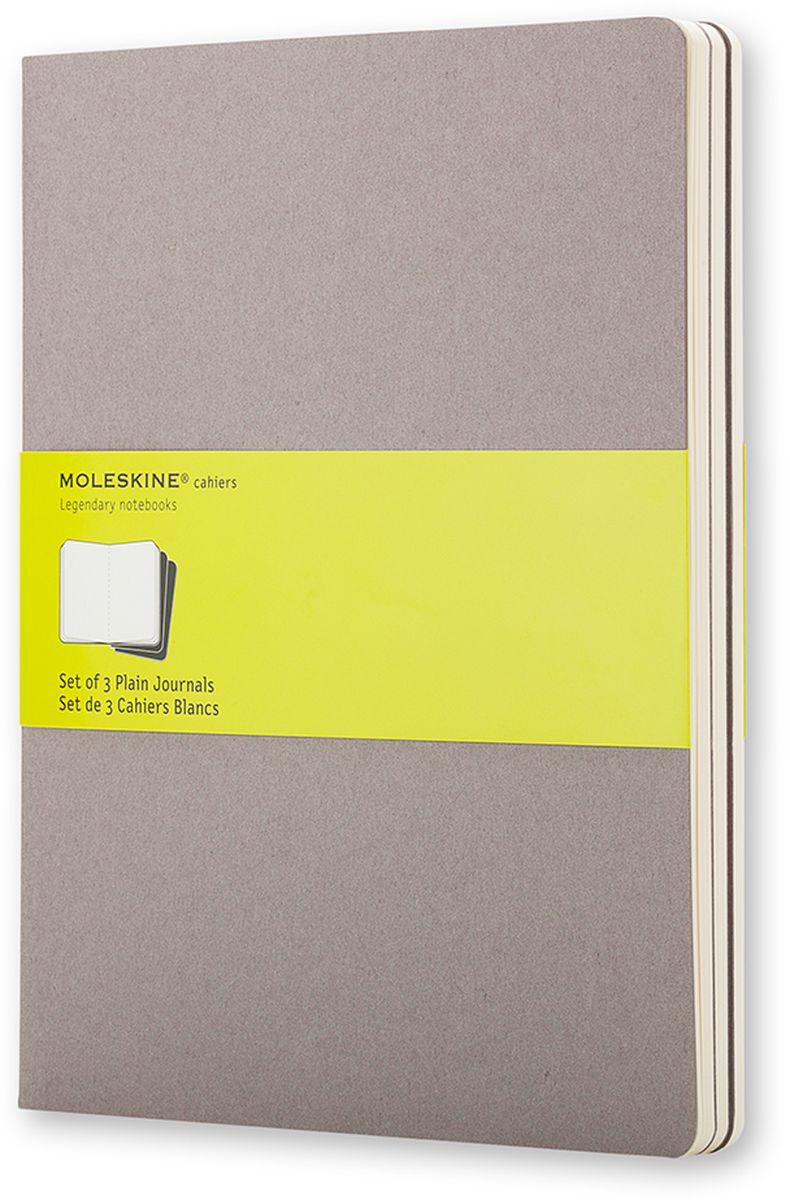 Moleskine Набор записных книжек Cahier Xlarge 60 листов без разметки цвет серый 3 шт