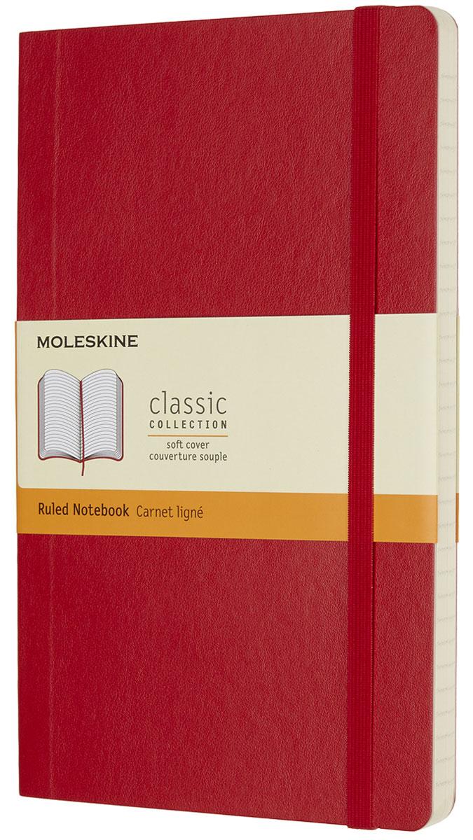 Moleskine Блокнот Classic Soft 96 листов в линейку цвет красный