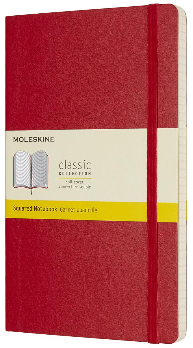 Moleskine Блокнот Classic Soft 96 листов в клетку цвет красный