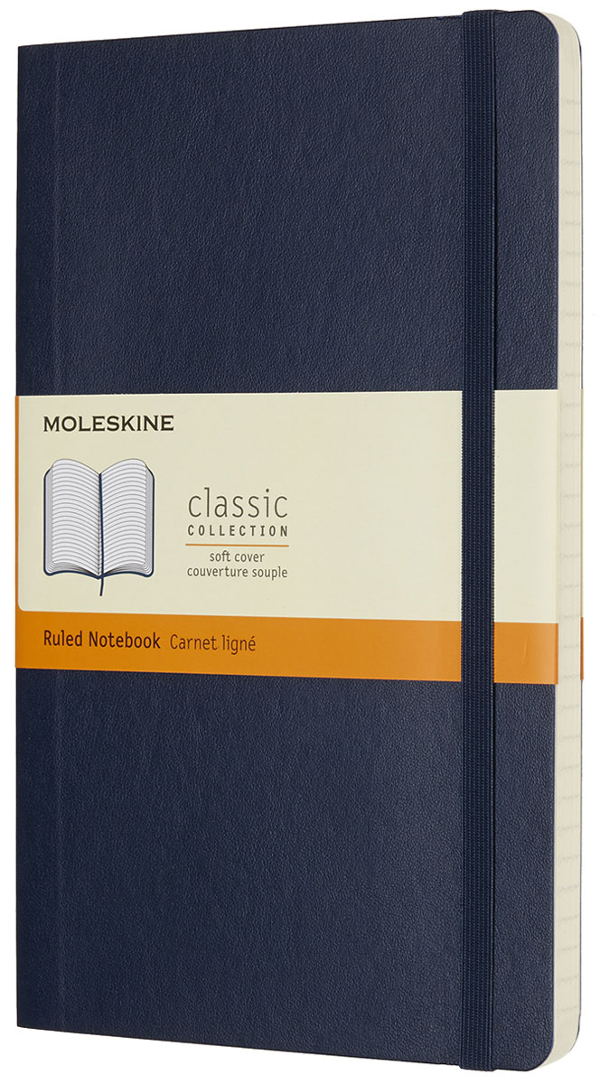 Moleskine Записная книжка Classic Soft Large 96 листов в линейку цвет синий