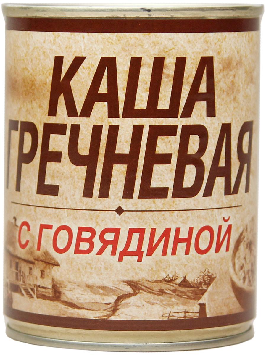 Вотчина Каша гречневая с говядиной, 338 г рузком каша рисовая с говядиной 325 г
