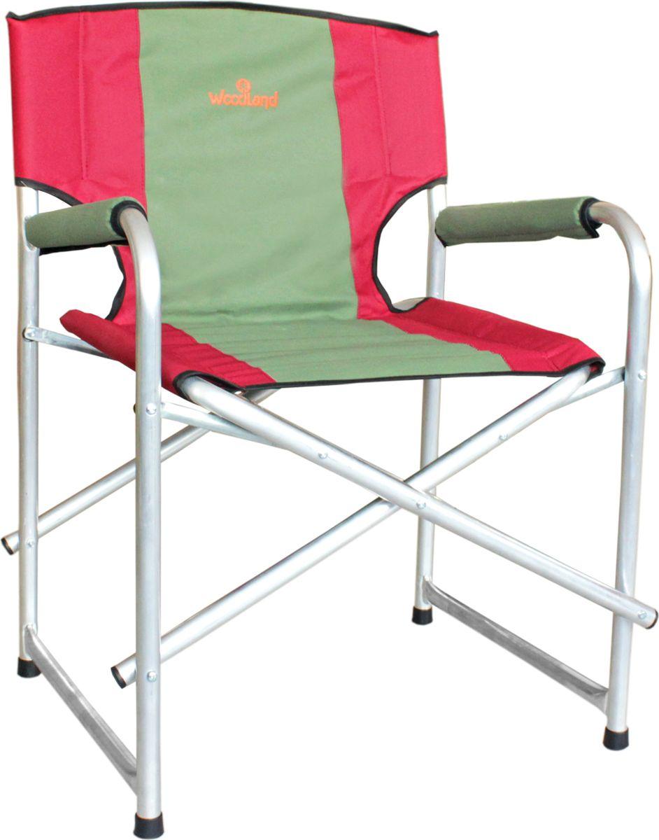 Кресло складное Woodland Super Max, цвет: красный, оливковый, 55 x 62 x 63 см кресло woodland ck 100 comfort складное кемпинговое 54 x 54 x 98 см сталь