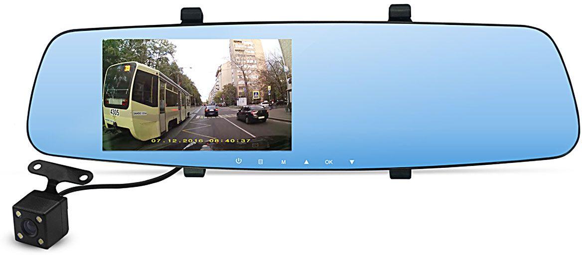 Dunobil Spiegel Eva, Black видеорегистратор835KJDADunobil Spiegel Eva - современная модель автомобильного видеорегистратора. Гаджет выполнен в виде зеркала заднего вида. Такой форм-фактор гарантирует полную незаметность устройства с улицы, так называемая антивандальная установка - никто и никогда не догадается, что в вашем автомобиле установлен автомобильный видеорегистратор в виду полной незаметности снаружи. Изюминкой этой модели станет тот фактор, что присутствует сразу две камеры.