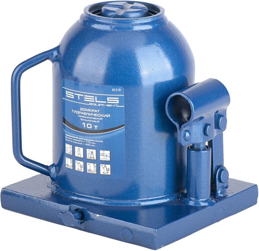 Домкрат гидравлический бутылочный Stels, телескопический, 10 т, высота подъема 17–43 см