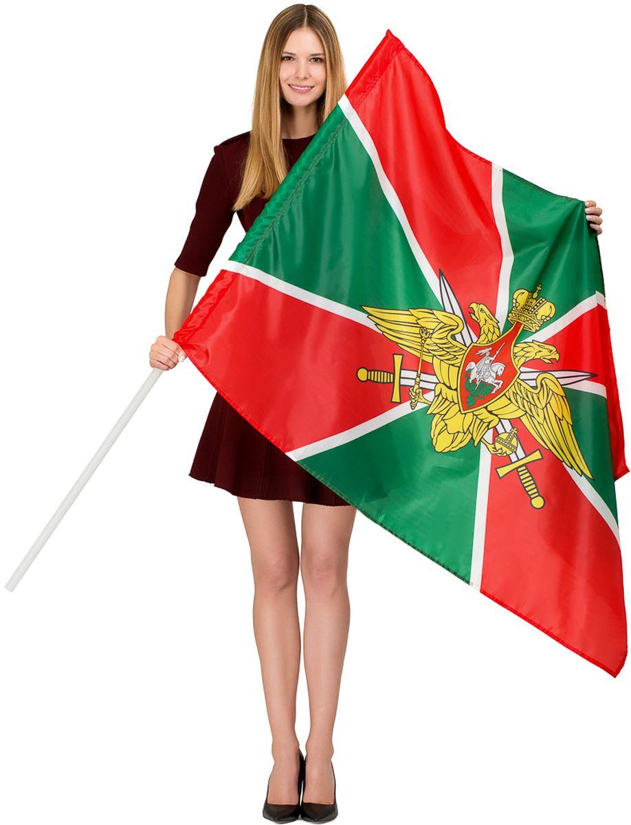 Флаг РусФлаг Пограничные войска России, двухсторонний, 90 х 135 см