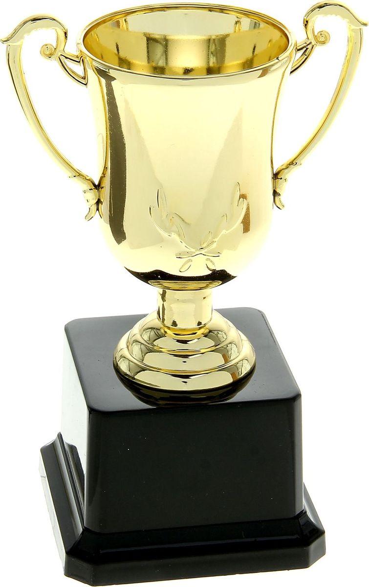 Кубок сувенирный спортивный, цвет: золотой. 699075 катер сувенирный на подставке 1531147 синий коричневый 14 5 х 35 х 12 см