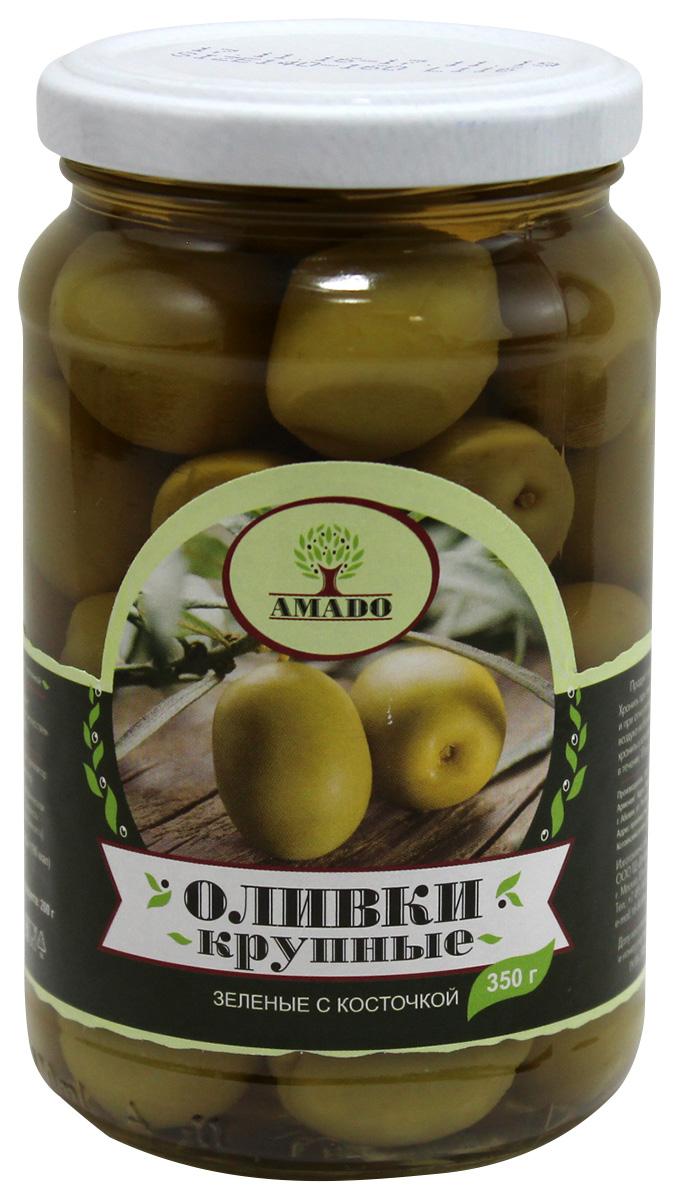 цены на Amado зеленые оливки с косточкой, крупные, 350 г  в интернет-магазинах