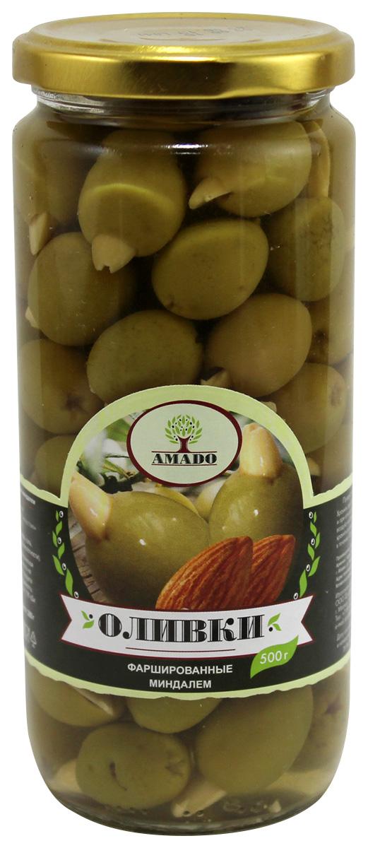 цены на Amado зеленые оливки с миндалем, 500 г  в интернет-магазинах