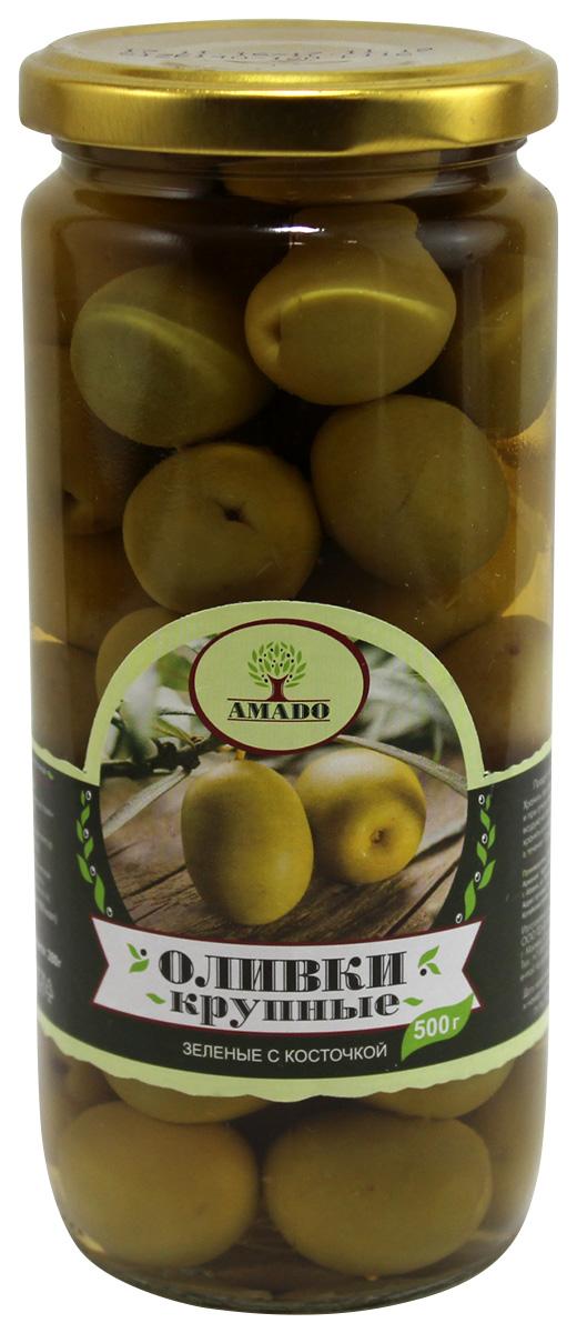 цены на Amado зеленые оливки с косточкой, крупные, 500 г  в интернет-магазинах