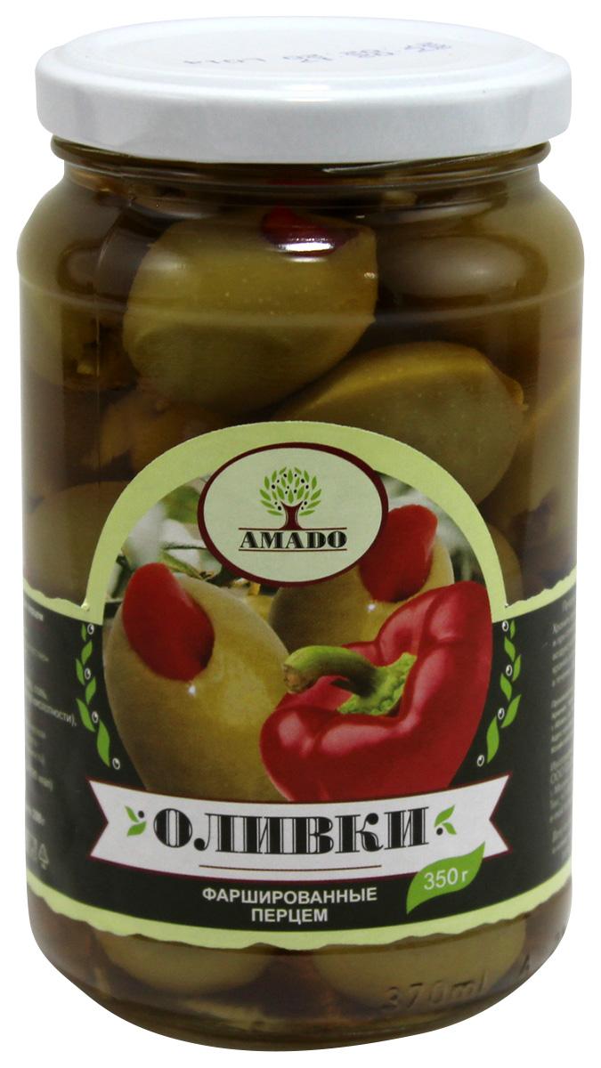 Amado зеленые оливки с перцем, 350 г масло для волос zeitun zeitun ze015lwbxyw4