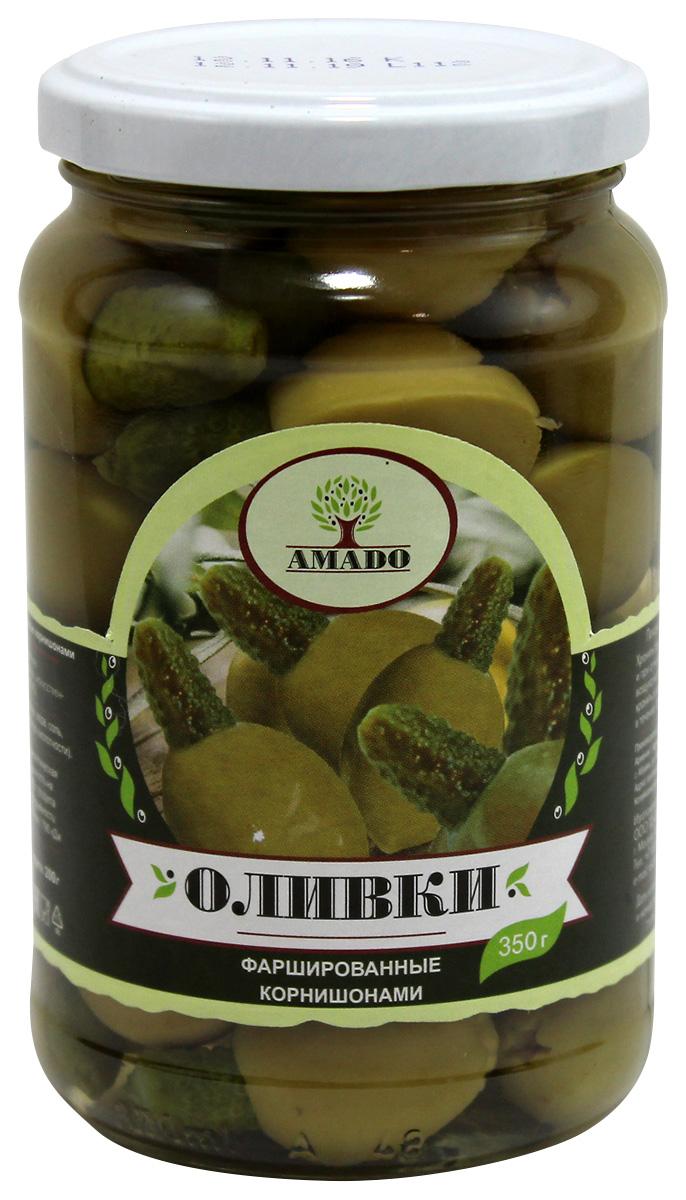 цены на Amado зеленые оливки с корнишонами, 350 г  в интернет-магазинах