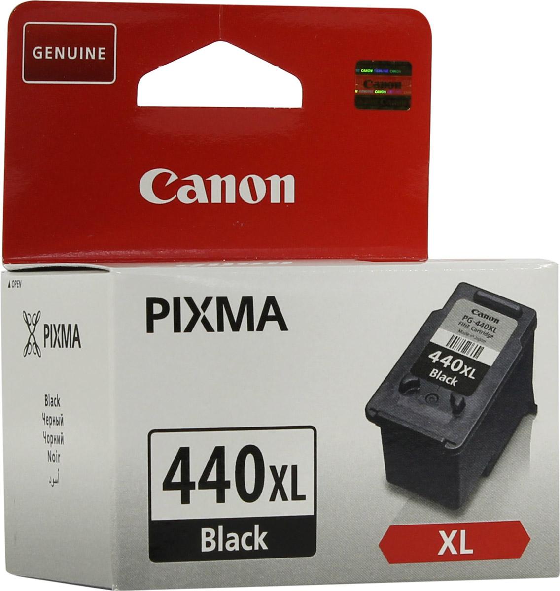 Картридж Canon PG-440 BK XL, черный, для струйного принтера, оригинал canon pg 510bk black картридж для струйных мфу принтеров